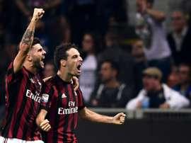 El Milan se ha reencontrado con el triunfo en su visita a Verona. AFP/Archivo