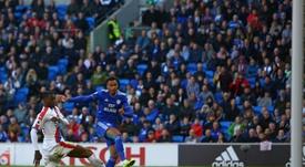 El Cardiff completa el trío de descendidos al Championship. AFP