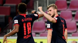 Leipzig won 4-2 against Cologne. AFP