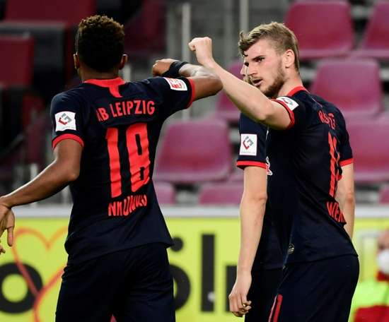 Nagelsmann não vê Werner no Leipzig por muito tempo. AFP