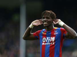 Wilfried Zaha was the star man again for Crystal Palace. AFP