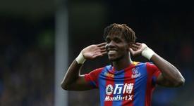 El futbolista africano, muy cerca de abandonar el Crystal Palace. AFP