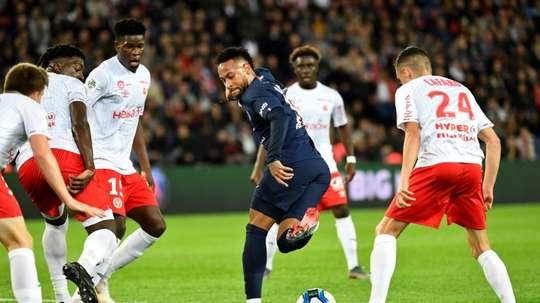 Les compos probables du match de Coupe de la Ligue entre Reims et le PSG. AFP