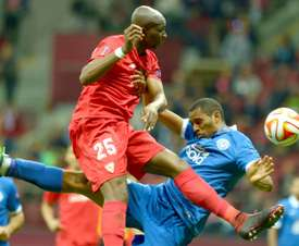 Mbia won the Europa League in 2015 with Sevilla. AFP