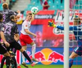 RB Leipzig - Freiburg: onzes iniciais confirmados. AFP