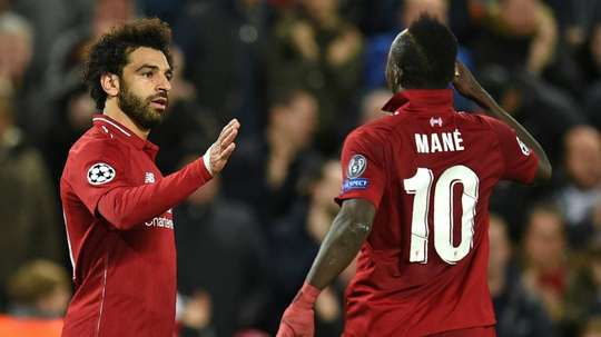 Salah y Mané, candidatos al 'MVP' de África. AFP/Archivo