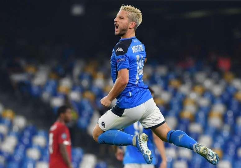 L'attaccante del Napoli, il belga Mertens. AFP