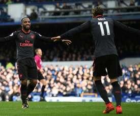 O Arsenal começou a perder, mas bateu o Everton com tranquilidade. AFP