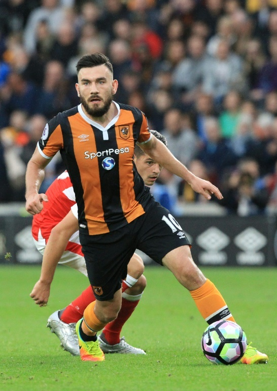 Snodgrass in action for Hull against Arsenal. AFP