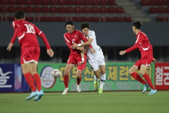 Confirmada la retirada de Corea del Norte del clasificatorio para Catar 2022. AFP
