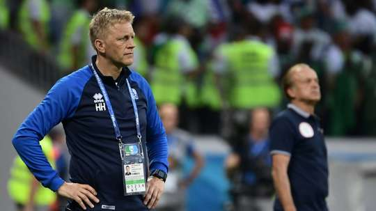 Heimir Hallgrimsson retains hope in his team's chances. AFP