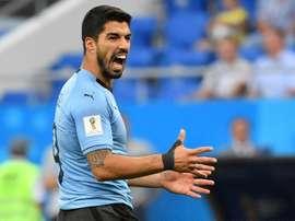 Suárez lideró la goleada. AFP