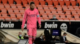 Ramos, obligado a parar de nuevo. AFP