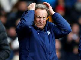Neil Warnock's Cardiff lost to Wigan. AFP