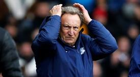 El hasta ahora técnico del Cardiff tendrá que hacer las maletas. AFP