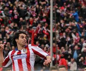 O médio despediu-se do Atlético de Madrid com todo o estádio a gritar o seu nome. AFP