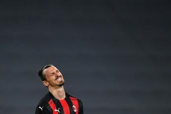 Aún queda para volver a ver a Ibrahimovic con la camiseta 'rossonera'. AFP