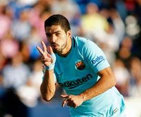 Suarez ended his goal drought against Leganes. AFP
