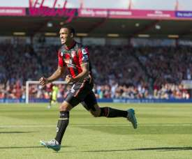 Wilson scoring for Bournemouth. AFP