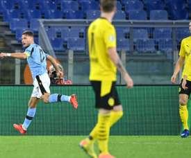 Lazio won 3-1. AFP