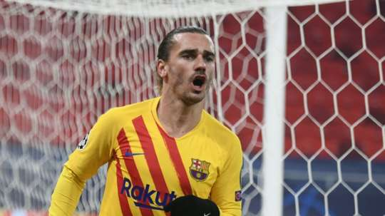 Antoine Griezmann scored as Barca comfortably beat Ferencvaros. AFP