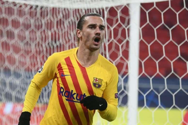 Antoine Griezmann scored as Barca comfortably beat Ferencvaros. AFP