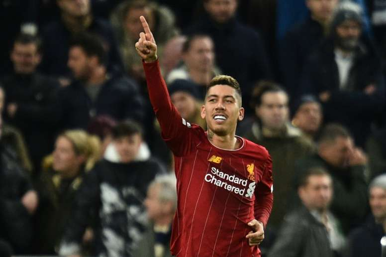 Firmino scored the only goal as Liverpool won once again. AFP