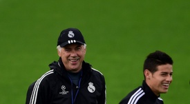Ancelotti évoque le transfert de James. AFP
