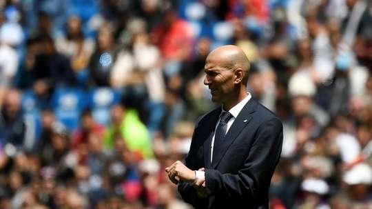 La promesse de Zidane à deux points d'être tenue. AFP