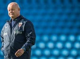 Per-Mathias Hogmo has quit as Norways football coach. AFP