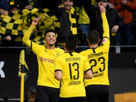 United will not rush to sign Sancho. AFP