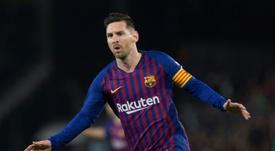 Messi, meilleur buteur. AFP
