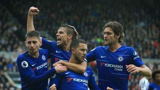 Pedro y Hazard firmaron los goles. EFE/Archivo