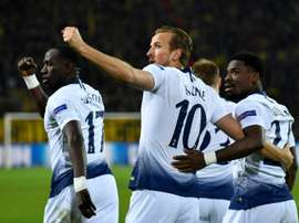 Harry Kane struck to end Dortmund's Champions League hopes. AFP