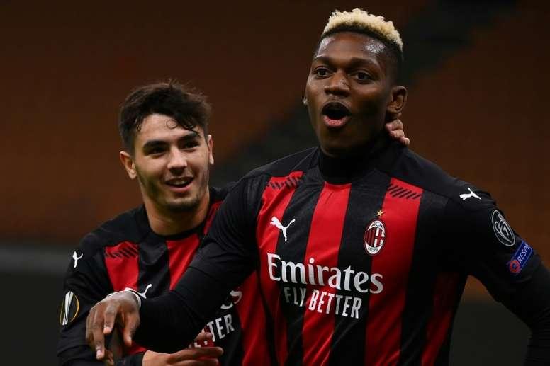 Le formazioni ufficiali di Milan-Fiorentina. AFP