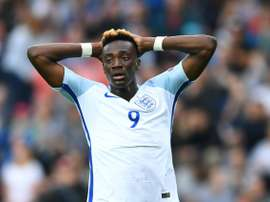 Tammy Abraham scored a vital goal for England Under 21s. AFP