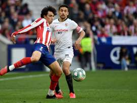 Joao Felix (L) netted in Atletico's draw with Sevilla. AFP