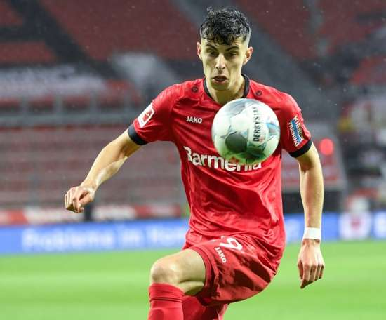 Kai Havertz will stay Leverkusen at least until the end of the Europa League. AFP