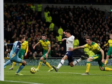 Dele Alli finally scored for first time in three league games. AFP