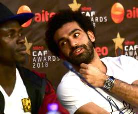 Mané and Salah form a strong partnership at Liverpool. AFP