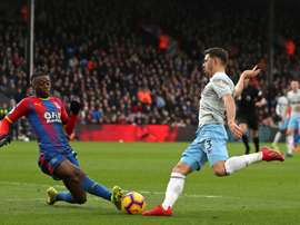 Aaron Wan-Bissaka completed a move from Crystal Palace to Manchester United on Saturday. AFP