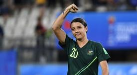 Sam Kerr podría aterrizar en el Chelsea. AFP