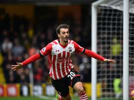Gabbiadini's late strike salvaged a point for the Saints. AFP