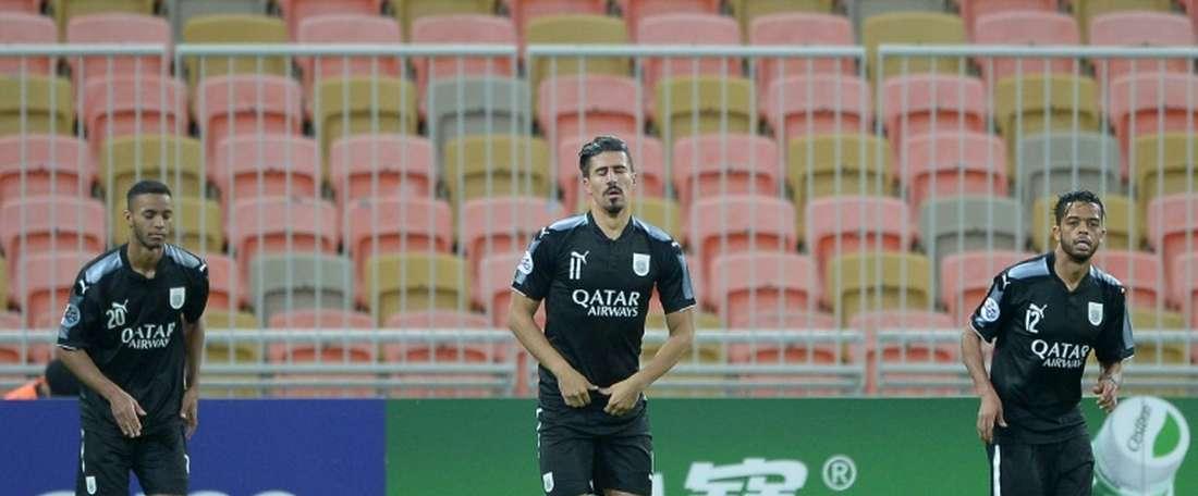 Bounedjah's brace put Al Sadd through to the final 8. AFP