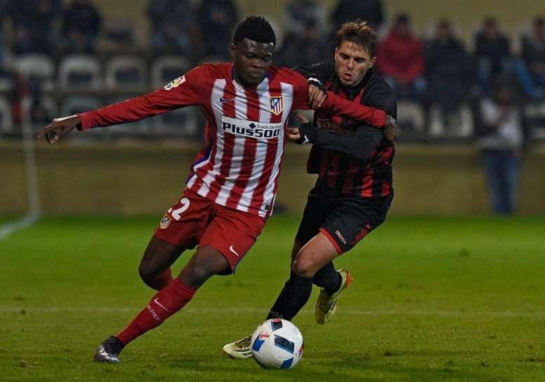 Carbia hizo el primero ante el Sevilla Atlético. AFP