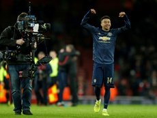 Arsenal wanted to hit back at Lingard and United. AFP