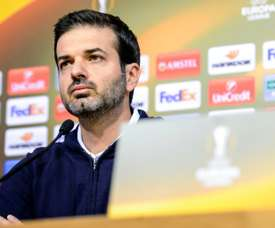Panathinaikos head coach Italian Andrea Stramaccioni resigns as the team are on the verge of being eliminated from both the Europa League and Greek Cup