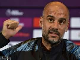Pep Guardiola est sous le charme de Rodri. AFP