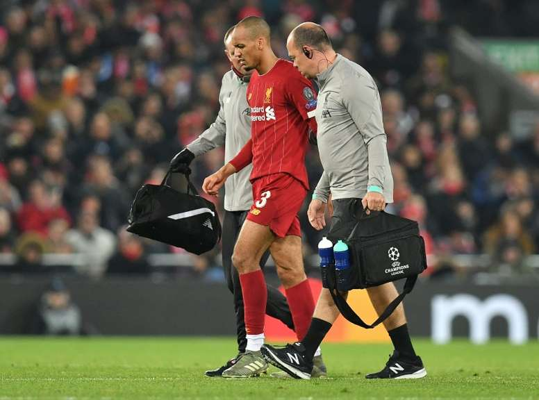 Liverpool's Fabinho ruled out until New Year with ankle injury. AFP