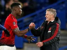 Pogba says he has a great relationship with Solskjaer. AFP